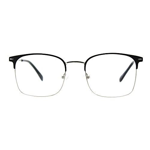 Stainless Steel Eyeglasses Prescription Optical Frame (black)