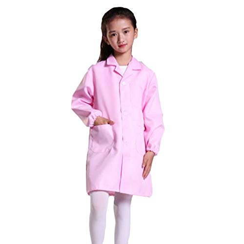 (CLanItris America Kids Unisex Doctor Lab Coat for Scientist Role Play Costume Set - Soft Touch (Small,)