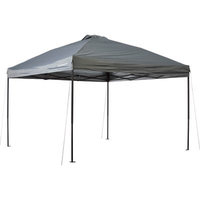 Strongway Pop-Up Outdoor Canopy Tent – 12ft. x 12ft., Open Top, Straight Leg, Cool Gray