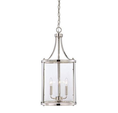 (Savoy House 7-1040-3-109, Penrose 3-Light Small Foyer Lantern, Polished Nickel)