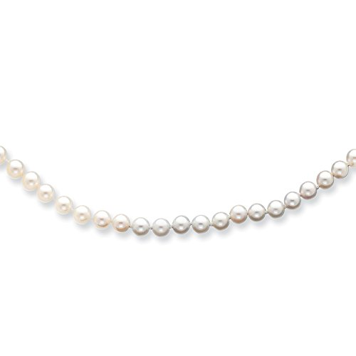 14k Yellow Gold 6mm Round White Saltwater Akoya Cultured Pearl Bracelet 7 Inch Fine Jewelry Gifts For Women For Her