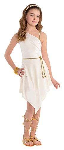 amscan Goddess Dress Costume Outfit - Child Standard]()