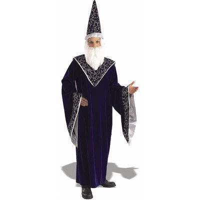 Rubie's Men's Merlin The Court magician Costume, As