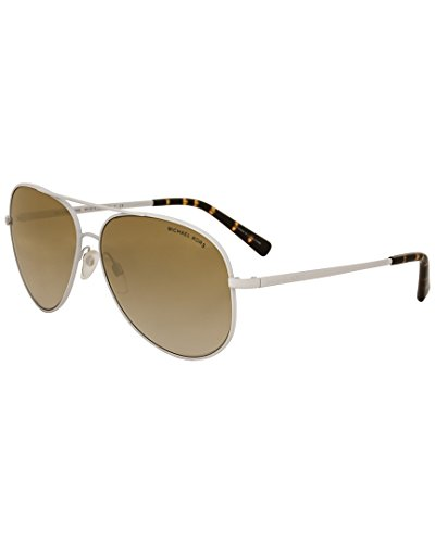 Double Gradient Gold Mirror (Michael Kors Women's Kendall MK5016 60mm White/Clear Gradient/Light Brown Mirror/Gold Sunglasses)