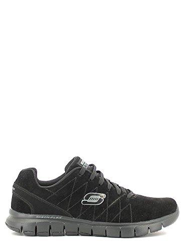 Skechers Skech-FlexNatural Vigor - zapatilla deportiva de piel hombre negro