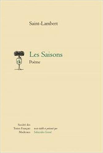 Les Saisons Poeme Societe Des Textes Francais Modernes