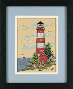 Dimensions Coastal Lighthouse Mini Stmpd X-Stitch Kit
