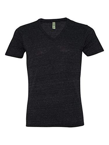 Alternative Men's Boss V-Neck T-Shirt, Eco True Black, - Neck Big Mens V Clothing Tall And
