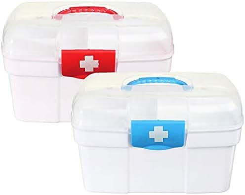 Empty First Aid Kit Family Medicine Chest Storage Box Household Plastic Drug Holder Case Medicine Cabinet