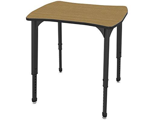 Desk Black Trim - Marco Group 38-2310-79-BLK Apex Series Dog Bone Adjustable Desk, 24