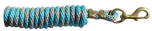 Professional's Choice Poly Cotton Lead Rope Charcoal/Turquoise