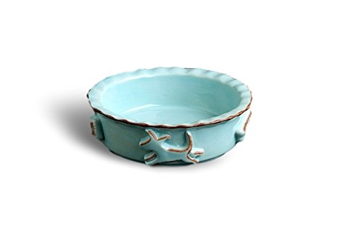 Baby bluee Small Baby bluee Small Carmel Ceramica PDSB3003 Dog Food Water Bowl, Baby bluee, Small
