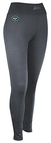 Zubaz Adult Women's NFL Solid Charcoal Team Logo Legging, -
