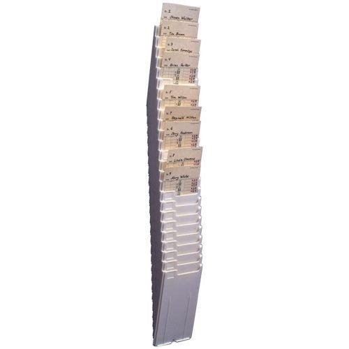 (Acroprint Expanding Card Rack, Wall Mount, 5