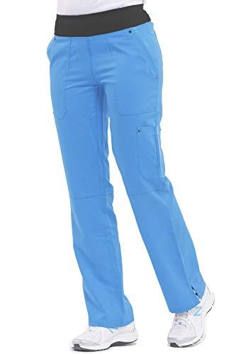 (healing hands Purple Label Yoga Women's Tori 9133 5 Pocket Knit Waist Pant Vivid Blue/Black- X-Large)
