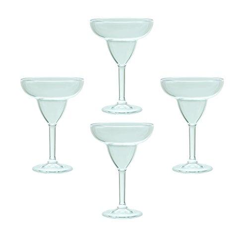 QG 12 Ounce Clear Acrylic Plastic Margarita Glass Set of (Acrylic Margarita Glasses)