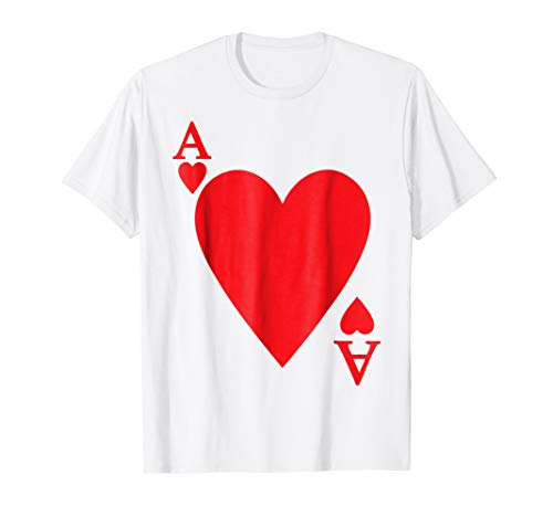 Deck Of Cards Halloween Costume Ace Of HEART Matching Friend ()