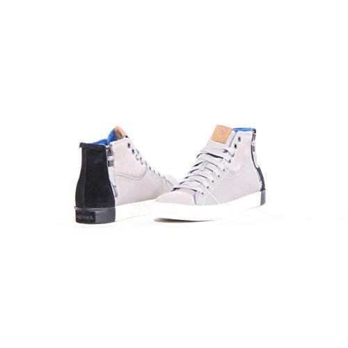 Diesel Men's D-velows D-zippy Fashion Sneaker,Flint Gray/Black,10.5 M US