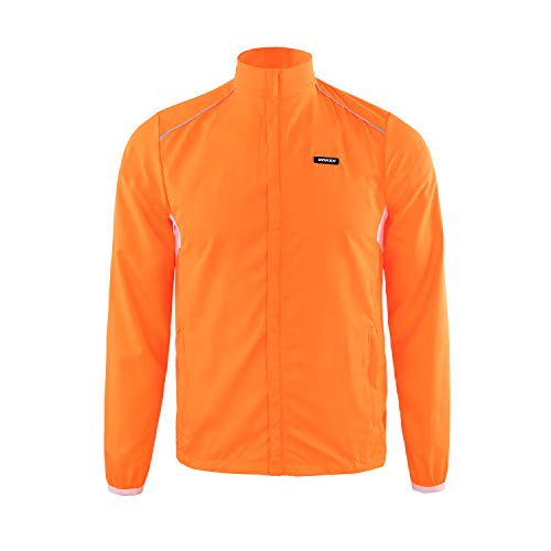 DONEN Cycling Waterproof Lightweight Windproof Jacket with UV Protection Bike Breathable Outdoor Sports Wear( Orange M )