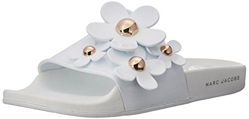 Marc Jacobs Women's Daisy Aqua Slide Sandal, White, 35 M EU (5 US)