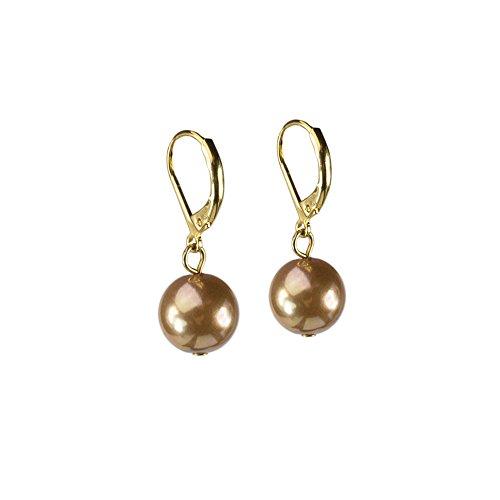 LookLove Women's Jewelry Glass Pearl Drop Earrings 1