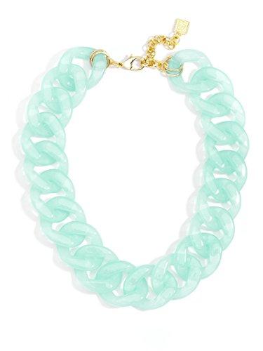 (ZENZII Lucky Lucite Collar Necklace (Mint) )