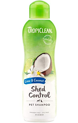 (TropiClean Lime and Coconut Shed Control Shampoo for Pets, 20oz, Made in USA)