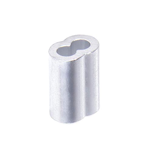 Dr. Fish Double Barrel Oval Crimp Sleeve Aluminum for Fishing Line Leader Wire Connector Tube Rigging Ferrule Size #9 0.142