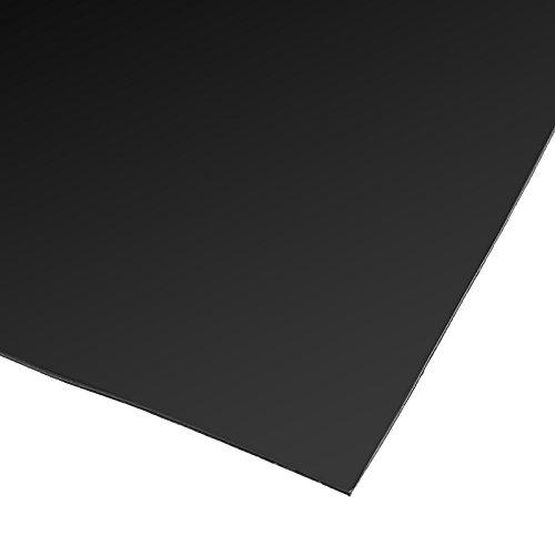 KUNSE 200x300x0.6mm Schwarz Silikon Gummi Blatt Selbstklebende Pad Hochtemperatur Platte Matte