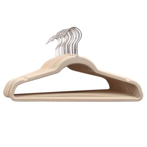 Michael Graves Design - Michael Graves Design Ultra-Thin Non-Slip Velvet Clothing Hangers, Flocked & Durable, Closet Space Saving, for Garments, Suits, Dresses, Pants, Shirts, Coats, 25 Pack