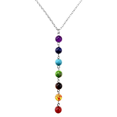JOVIVI Chakras Pendant Necklace Pendulum