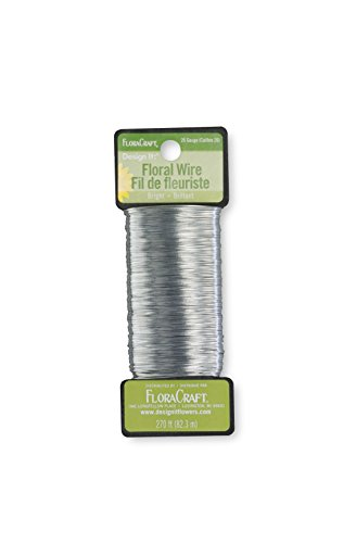 (FloraCraft 26 Gauge Floral Paddle Wire 270 Feet Bright Silver)