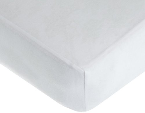 American Baby Company 100% Cotton Value Jersey Knit Crib Sheet, White (White Jersey Knit Cotton)