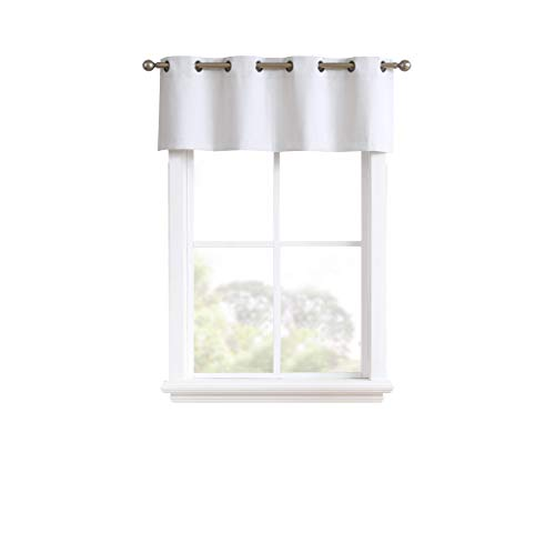 Madison - 100% Blackout Valance - 18 Inch Long - Newly Innovated - Eco Friendly - Light Weight Fabric with Grommets - Heat and Light Blocking Drapes (1 Valance 54