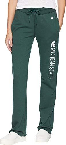 Champion College Women's Michigan State Spartans University Fleece Open Bottom Pants Dark Green Medium 31 ()