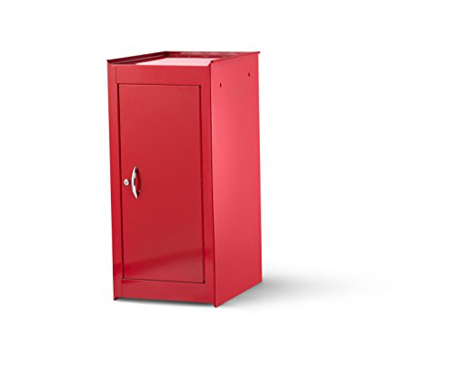International VRS-4200RD 15-Inch Red Half Locker Side Cabinet with 1 Adjustable Shelf (International Red Tool Boxes)