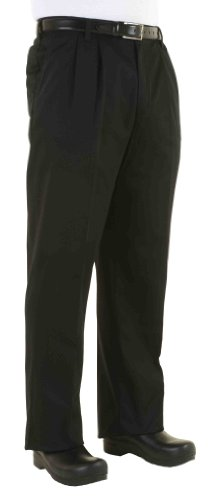 Chef Works Men's Classic Chef Dress Pants, Black, 36
