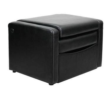 Enjoyable Amazon Com Convertible 3 In 1 Ottoman Chair Black Leather Frankydiablos Diy Chair Ideas Frankydiabloscom