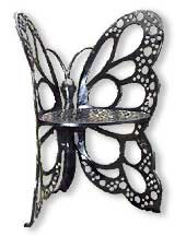 Flower House FHBC205 Butterfly Chair, Black - Aluminum Butterfly Chair