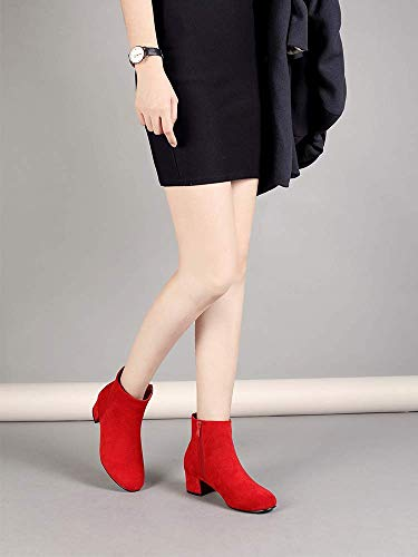 42b8be6cddd 5 Rojo Liuruijia Para Talla Botas Color Mujer 36 nq70HfIwx7