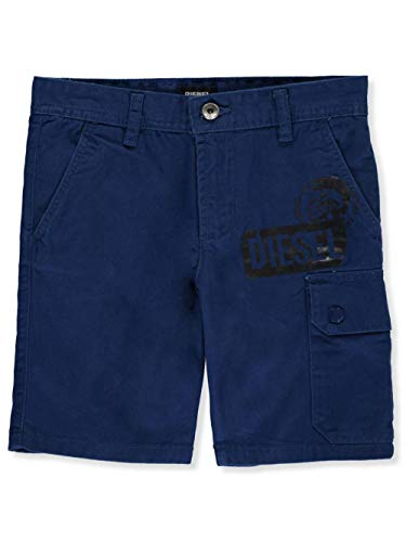 Diesel Boys' Big Casual Short, Cargo Estate Blue, 12