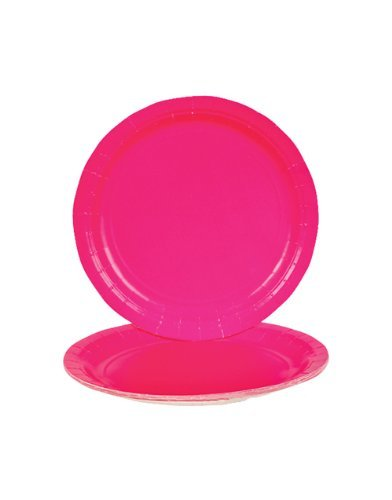 Hot Pink Dinner Paper Plates (25 (Hot Pink Party Plates)