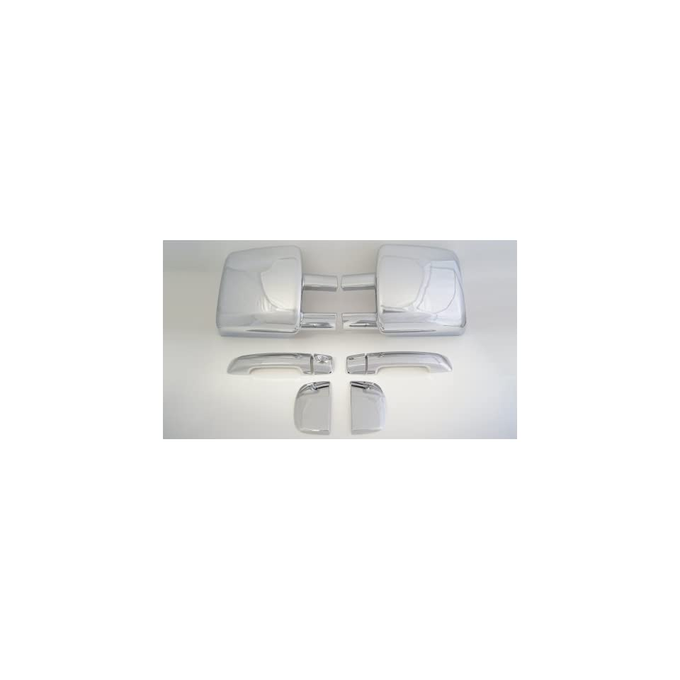 Toyota Tundra Double Cab Chrome Set ( Towing Mirror Cover and Door Handle Cover Without Passenger Keyhole ) ( 2007   2012 )