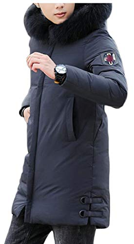 Faux 1 Warm Jacket Fur Short Thicken Hooded security Overcoat Winter Down Men's w5A0xqq6P