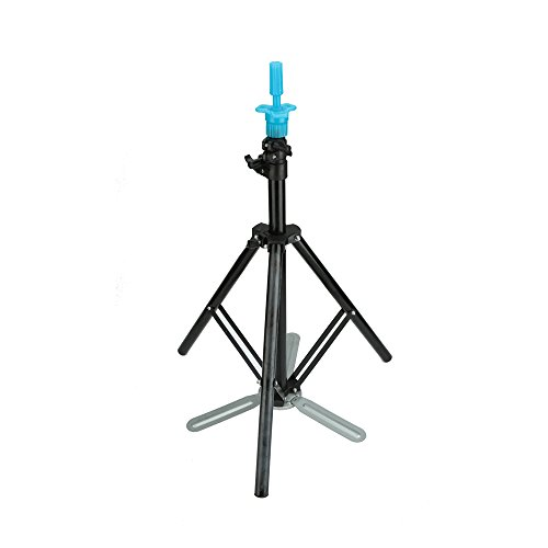 Anself Pro Adjustable Hairdressing Wig Stand Tripod Stand Holder with Tripod-leg Salon Hair Clamp