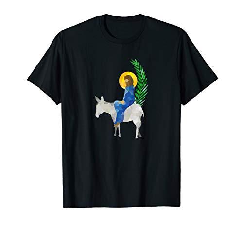 Jesus on a donkey with palm leaves- Palm Sunday -