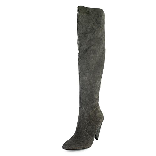 Fashion Gray Pointed Vince Davys Camuto Knee Toe Womens Over Leather Boots Hollie WWOp8qZ