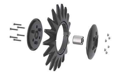 Star Closing Wheel Single Star Kit - John Deere 750 Drill (Metric Bushing)