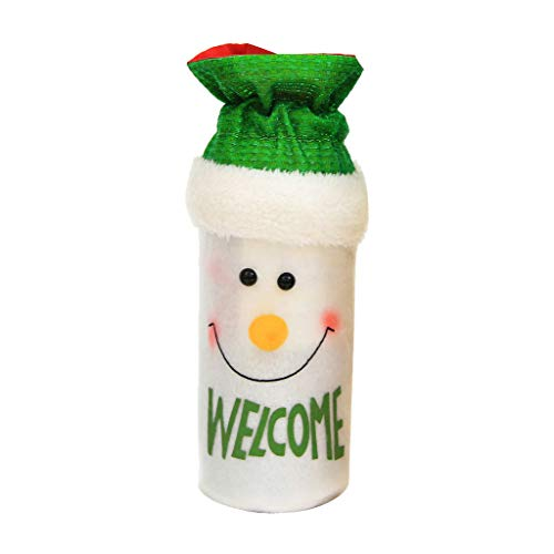 Ktyssp Wine Bottle Cover Snowman Stocking Bags Xmas Sack Packing Present - Add To Bathroom Shelf Mirrors Unit