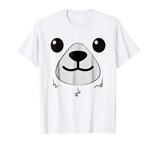 Polar Bear Costume Shirt - Halloween Bear Face T shirt -